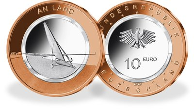 "10-Euro-Polymerringmünze ""An Land"""